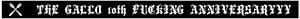 ギャロ/黒鶏式腕輪 10th ANNIVERSARYYY