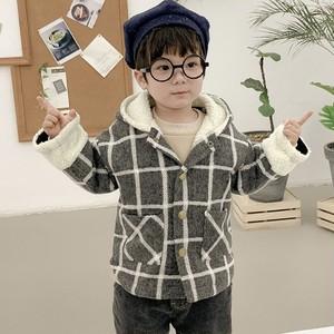 【トップス】カジュアル定番暖かいチェック柄子供服長袖ジャケット24505217
