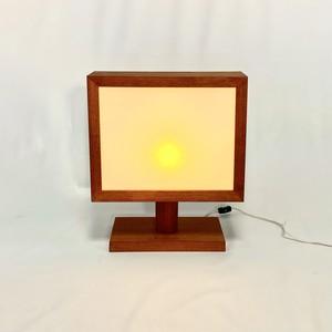 木製フレームスクエアランプ lamp
