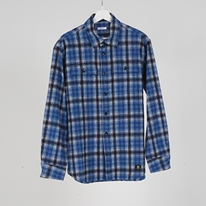 L/S FLANNEL SHIRTS (BLUE) / GAVIAL