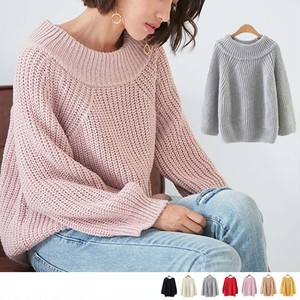 【即納】off shoulder  knit over tops