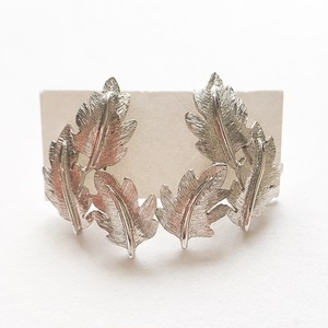 """Napier"" silver leaf pierce[p-311]"