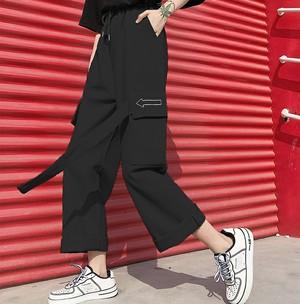 【ボトムス】新作ファッションストリートルーズガウチョパンツ