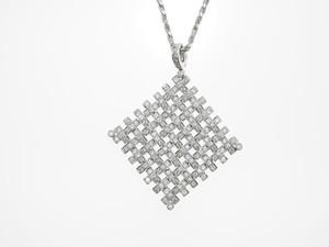 【K18WG】4.260ct UP ダイヤモンドネックレス