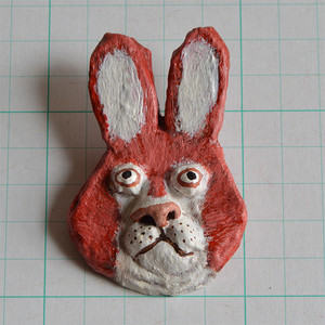 ブローチ B120 ウサギ