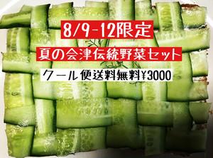 【8/9-12限定販売☆送料無料クール便】 夏の☆会津伝統野菜セット