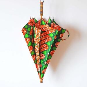 Bon Bon Store アフリカンバティック長傘(竹 011)