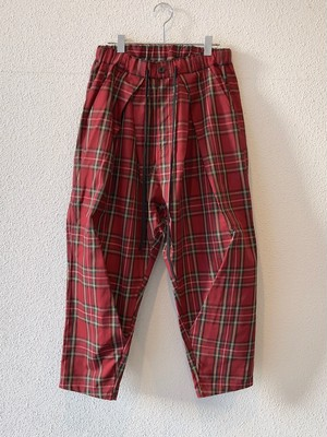 RD【19016】KNEE TUCKED CHECK PANTS