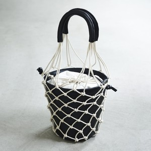 Mesh-Leather-Basket #Black