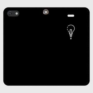【SE】ロゴiPhoneケース手帳型黒