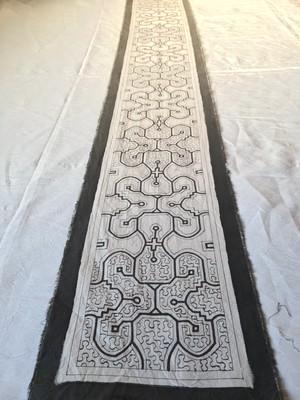 アマゾンの泥染め ロング 白 24x110cm