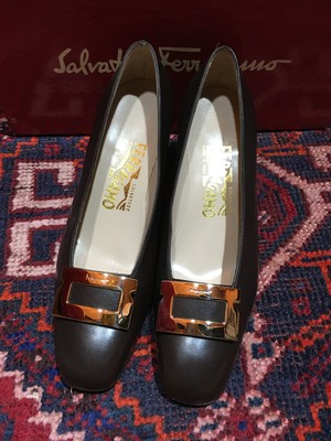 .Salvatore Ferragamo CABIRIA LEATHER PUMPS MADE IN ITALY/サルヴァトーレフェラガモレザーパンプス 2000000033617