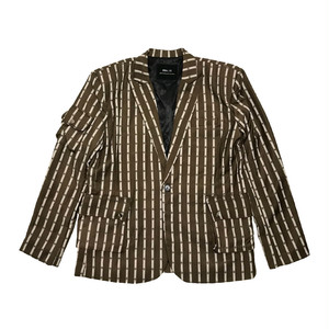 ILL IT - CROSS DOT STRIPE SIGNATURE JACKET (BROWN)