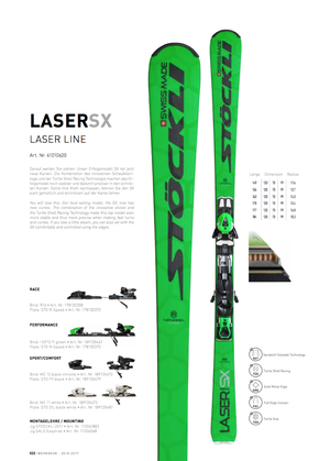 18'-19'|LASER SX / N SP12 Ti green S75