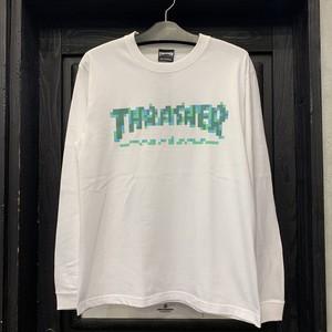 THRASHER : PIXCEL L/S TEE