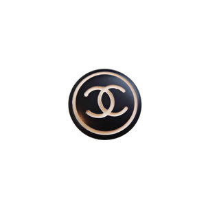 【VINTAGE CHANEL BUTTON】モノトーンココマーク ボタン 22mm C-21057