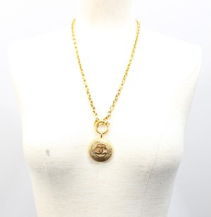 .CHANEL BIG COCO MARC NECKRACE MADE IN FRANCE/シャネルビッグココマークネックレス 2000000029801