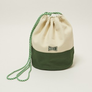 'KINCHAKU'CANVAS POUCH M - GREEN