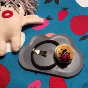 【meronpangamer?】 パンケーキ ヘアゴム <2枚・テントウムシ>