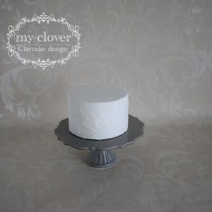 [受注制作]Φ15cm×H9cm クリームクレイカバーケーキA(ラフ)