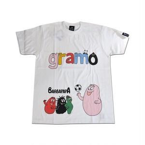 BARBAPAPA×gramo コラボ Tシャツ「lesson-T」(ホワイト/T-019) ※S~Lサイズ