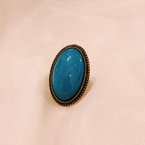 """vintage blue stone ring"""