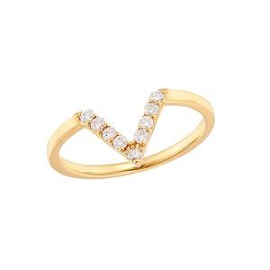 K18YGダイヤモンドリング 010201008967