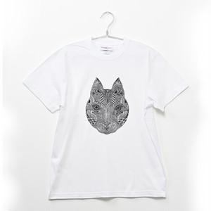 ◆Apsu Shuseiコラボ◆「世界一怪談を聞いている猫」TシャツWHITE×BLACK