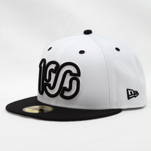 NEW ERA × 100A 59FIFTY BICOLOR *WHITE / BLACK LOGO