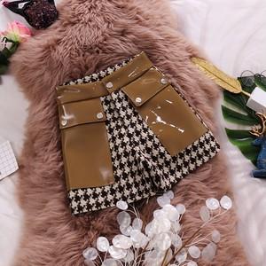 【bottoms】配色ハイウエストファッションショートパンツ25631834