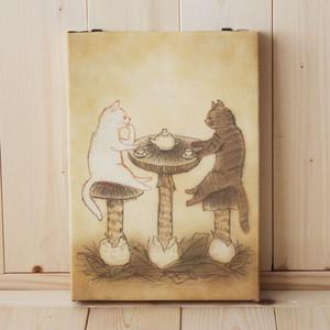 B4サイズ(大)複製画●猫とネコの絵本シリーズ●猫とネコのティータイム