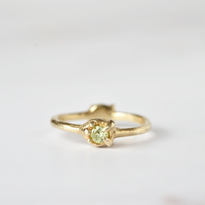 2-way ring (ペリドット×ゴールド)