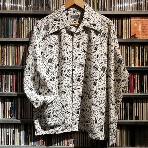 L / S シャツ THE GANG BUSKERS 40'Sエリ&2ポケット