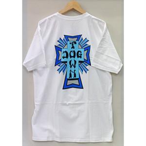 【ドッグタウン】クロスロゴカラーTシャツホワイト