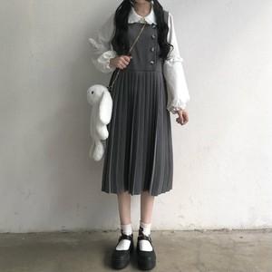 【ワンピース】新作日系レトロゆったりハイウエスト合わせやすいキャミワンピース