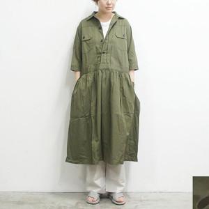 ichi イチ 無地/カモフラワンピース レディース ワンピース ロング 5分袖 通販 (品番181214)
