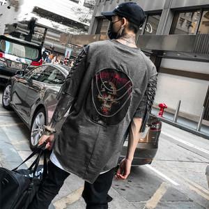 【トップス】個性的ダメージ加工ファッションストリート暗黒系半袖Tシャツ29901484