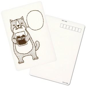 【ポストカード】ネコおっさん ビール