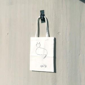 いのくまさんのノートバッグ / すわり猫