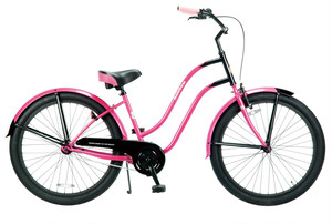 "PCH 101 26"" Ladies' Black Components / Pink Black"