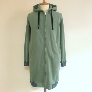 Light Weight Long Parka Ash Green