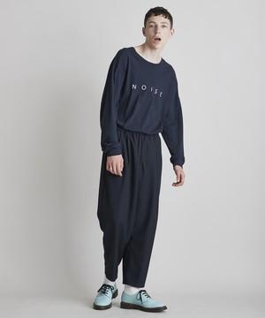 ロゴプリントBIGロングスリーブTシャツ(ネイビー)