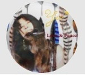 Yuko Kawahara 缶バッチ Love & Peace