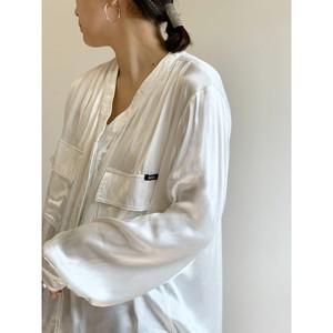 WHOO-AA・サテンフライフロントシャツ(W1S1004)