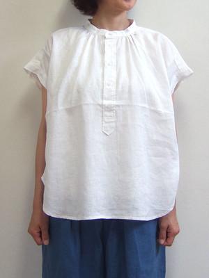 D.M.G スタンドシャツ 16-590V 31-3 5ozリネンキャンバス ホワイト 麻 ドミンゴ DMG