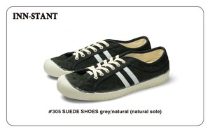 #305 SUEDE SHOES grey/natural (natural sole)  INN-STANT インスタント