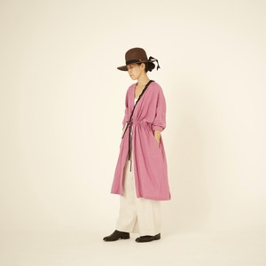woman's linen gown coat