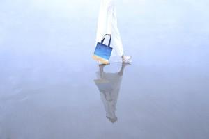 【送料無料】空を描いた、メッシュ素材のトートバック