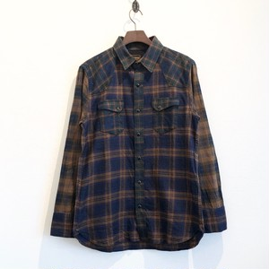 TRIPLE CHECK WESTERN SHIRTS (OCHER BASE) / LOST CONTROL