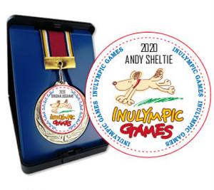 記念メダル(愛犬の名前入り)